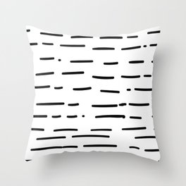 Hand Drawn Dashed Lines Throw Pillow