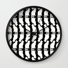 """Crazy Cat Human"" Wall Clock"