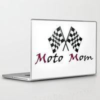 moto Laptop & iPad Skins featuring Moto Mom by Risdon & Associates