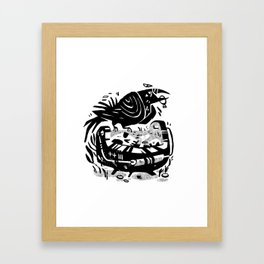 Crow Cauldron Framed Art Print