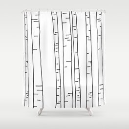 Minimal birches Shower Curtain