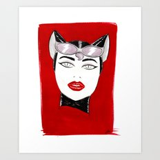 80's Fashion Catwoman Art Print