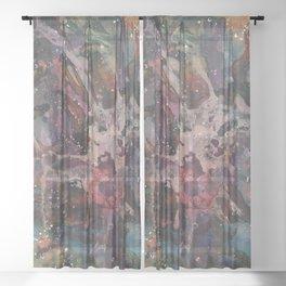 Paint splatter abstract Sheer Curtain