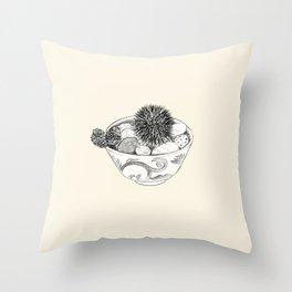 Chestnut Burr & Pottery Throw Pillow