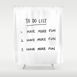To Do List Shower Curtain