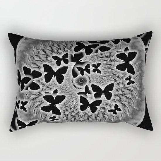 Dark butterfly kaleidoscope Rectangular Pillow