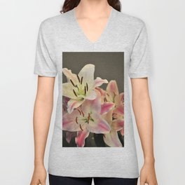 A Dream of Lilies #1 #decor #art #society6 Unisex V-Neck