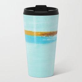 Teal Dream Abstract Travel Mug