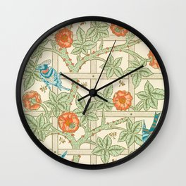 William Morris Vintage Birds Wall Clock