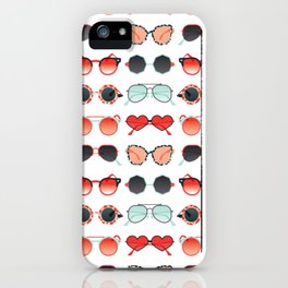 Sunglasses Collection – Red & Mint Palette iPhone Case