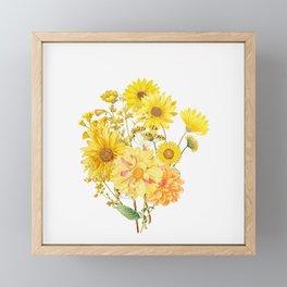 Vintage & Shabby Chic - Late Summer Flowers Framed Mini Art Print