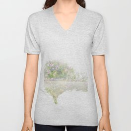 Where the sea sings to the trees - 12 Unisex V-Neck