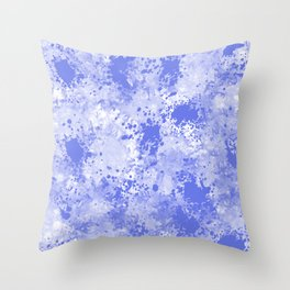 Blue Watercolor Paint Splatter Abstract Throw Pillow