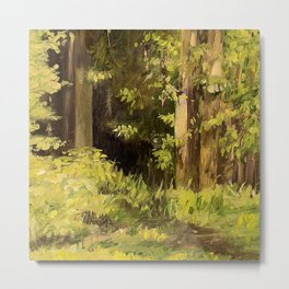 Woodland Landscape Nature Art Metal Print