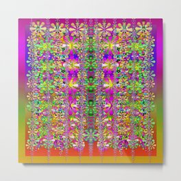 flower wall with wonderful colors and bloom Metal Print