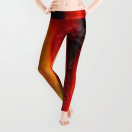 Embossed Flame Forms Leggings