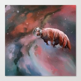 Water bear (tardigrade) in space Canvas Print