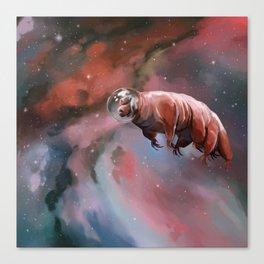 Water bear (tardigrade) in space Canvas Print