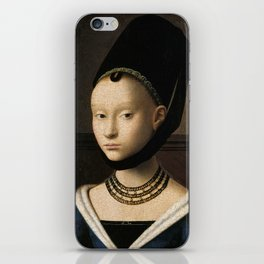 Portrait of a Young Girl by Petrus Christus iPhone Skin