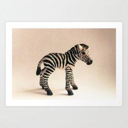 Zebra Baby Art Print