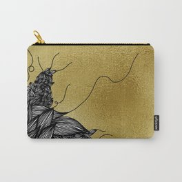 Unravelling Lines on Gold Illustration Carry-All Pouch