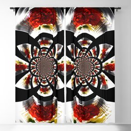 Mirror Image Abstract Blackout Curtain