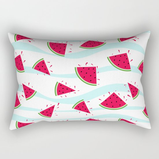 Watermelon pattern . Retro . Rectangular Pillow