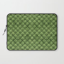 Quilted Bright Leaf Green Velvety Pattern Laptop Sleeve