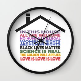 In This House, All Are Welcome Wall Clock