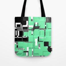 Digital Squares Tote Bag