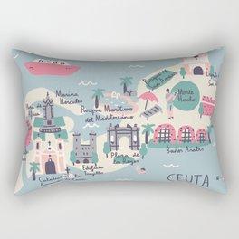 Map of Ceuta Rectangular Pillow