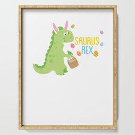 Easter Saurus Rex Easter Bunny Dinosaur Serving Tray