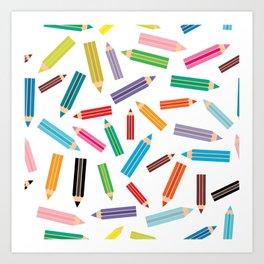 pencils Art Print