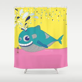 Hugo the Whale Shower Curtain