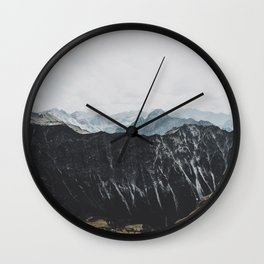 interstellar - landscape photography Wall Clock