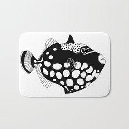 Clown trigger fish Bath Mat