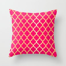 Moroccan Gold & Pink II Throw Pillow