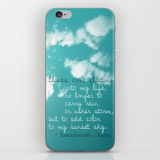 Clouds come floating... iPhone & iPod Skin