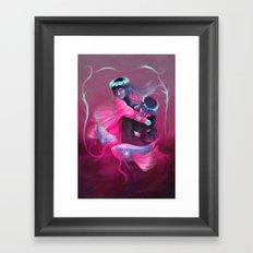 Fish couple Framed Art Print