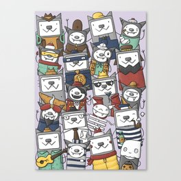 CATS'N'BATS Canvas Print