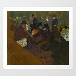 Henri de Toulouse-Lautrec - At the Moullin Rouge Art Print