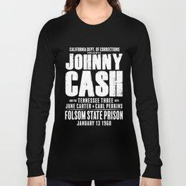 Johnny Cash at Folsom Prison T-shirt Long Sleeve T-shirt