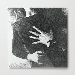 Gripping hands Metal Print