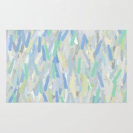 Blue, Teal, Green Abstract Rug