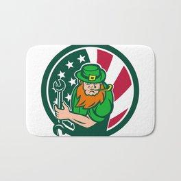 Irish-American Mechanic USA Flag Icon Bath Mat