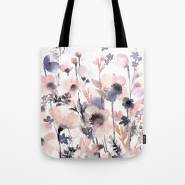 Flowers pink and purple Tote Bag