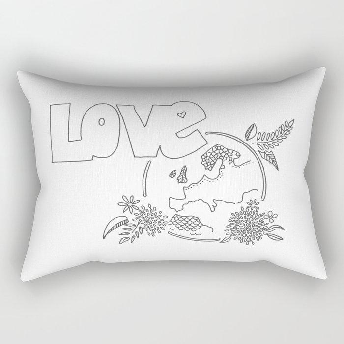 Love the earth Rectangular Pillow