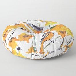 Birds in Autumn Floor Pillow