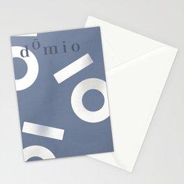 Blue Keyhole Linen Stationery Cards