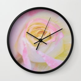 Pink Rose Vector Wall Clock